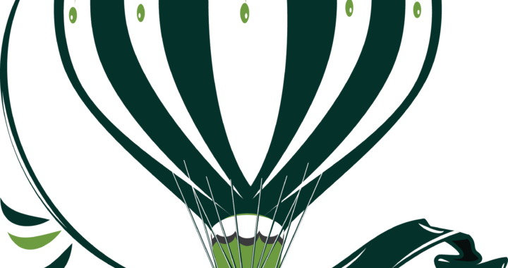 "Shows illustration of hot air balloon with ""ClovisFest"" name beneath."